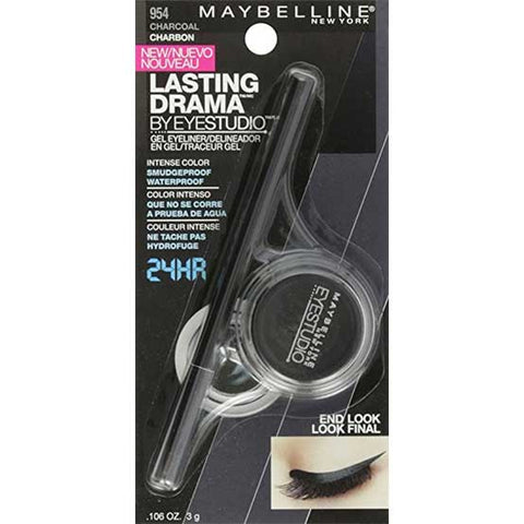 MAYBELLINE Lasting Drama Gel Waterproof Eyeliner, 954 Charcoal