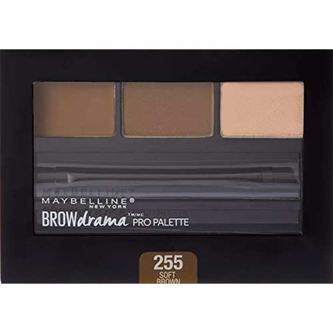 MAYBELLINE Brow Drama Pro Palette, 255 Soft Brown