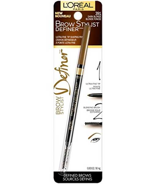 LOREAL Brow Stylist Definer Eyebrow Pencil, 391 Dark Blonde