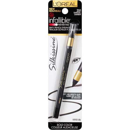 LOREAL Infallible Never Fail Silkissime Eyeliner, 210 Charcoal