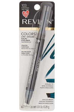 REVLON Colorstay 2 in 1 Angled Kajal Waterproof Eyeliner, 103 Evergreen