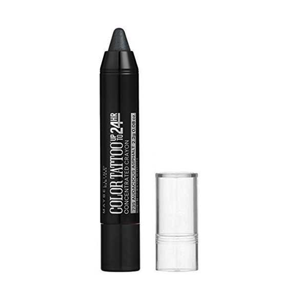 MAYBELLINE Color Tattoo 24 HR Eye Crayon, 735 Audacious Asphalt