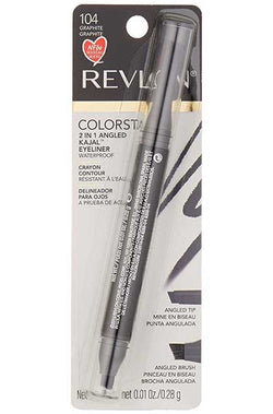 REVLON Colorstay 2 in 1 Angled Kajal Waterproof Eyeliner, 104 Graphite
