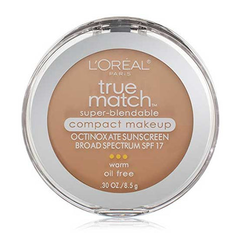 LOREAL True Match Super Blendable Compact Makeup, w3 Nude Beige