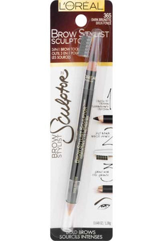 LOREAL Brow Stylist Sculptor Eyebrow Pencil, 365 Dark Brunette
