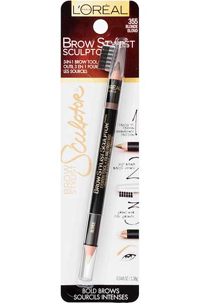 LOREAL Brow Stylist Sculptor Eyebrow Pencil, 355 Blonde