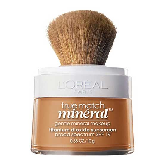 LOREAL True Match Naturale Mineral Powder Foundation Makeup, w6-7 Sun Beige