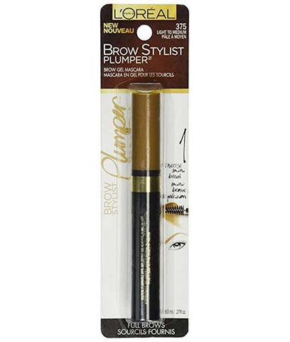 LOREAL Brow Stylist Plumper Gel Mascara, 375 Light to Medium