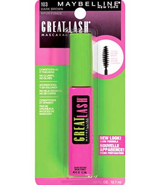 MAYBELLINE Great Lash Mascara, 103 Dark Brown