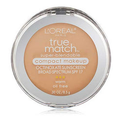 LOREAL True Match Super Blendable Compact Makeup, w2 Light Ivory