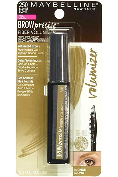 MAYBELLINE Brow Precise Fiber Volume Mascara, 250 Blonde