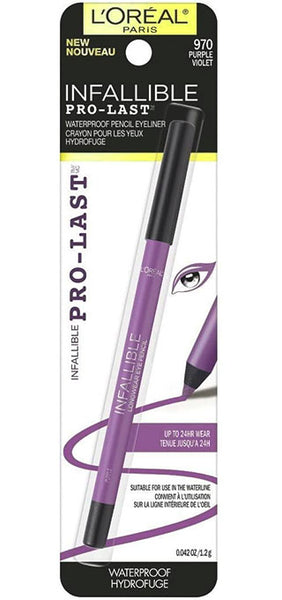 LOREAL Infallible Pro-Last Pencil Eyeliner, 970 Purple
