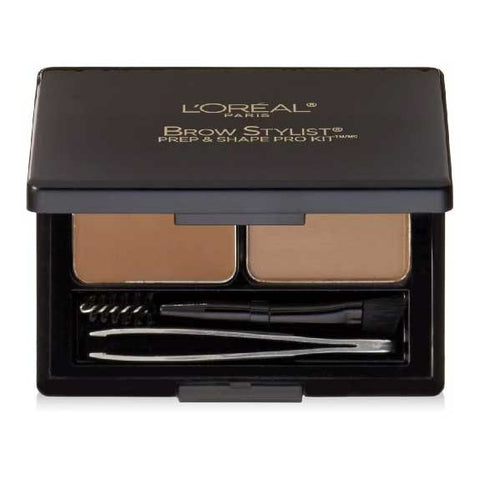 LOREAL Brow Stylist Prep & Shape Pro Kit, 386 Light to Medium