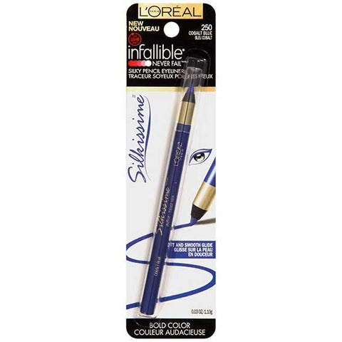 LOREAL Infallible Never Fail Silkissime Eyeliner, 250 Cobalt Blue
