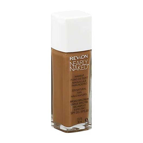 REVLON Nearly Naked Makeup Foundation, 220 natural tan
