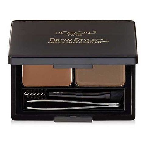 LOREAL Brow Stylist Prep & Shape Pro Kit, 387 Medium to Dark