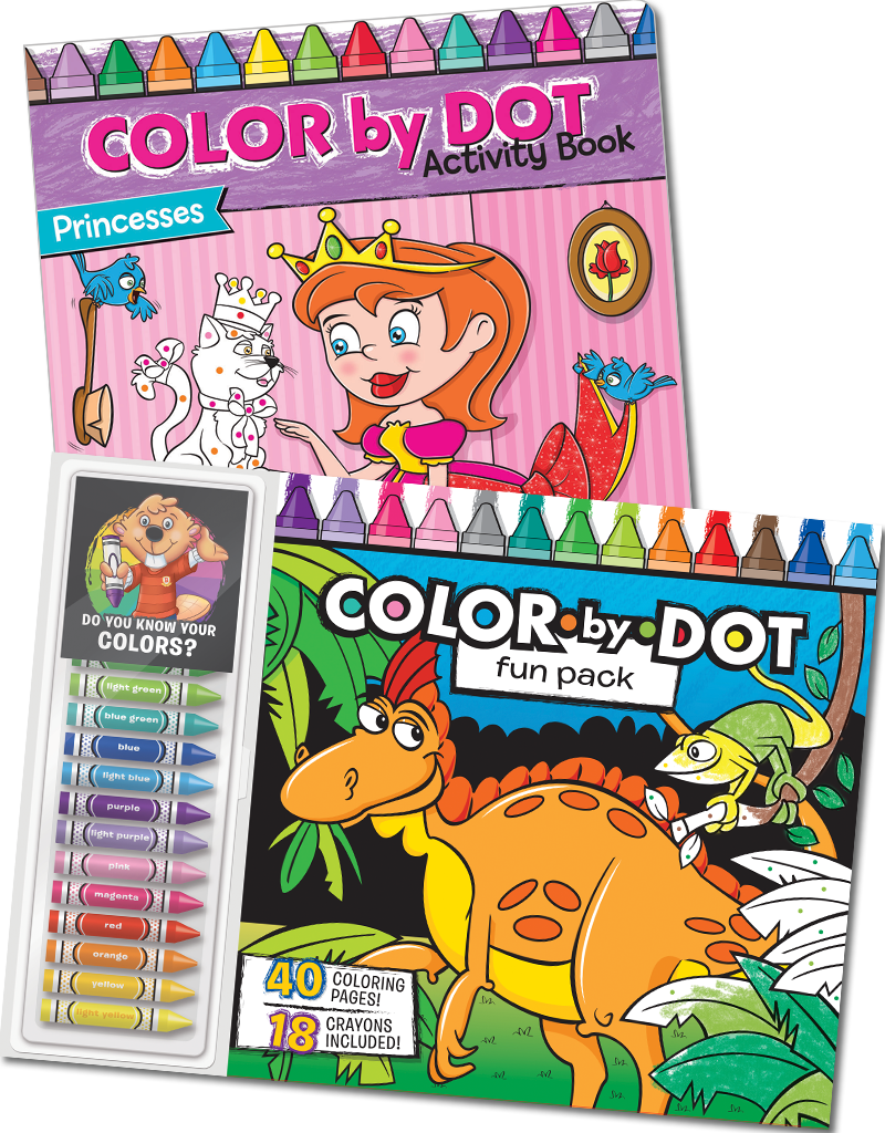 Color-By-Dot Coloring Books