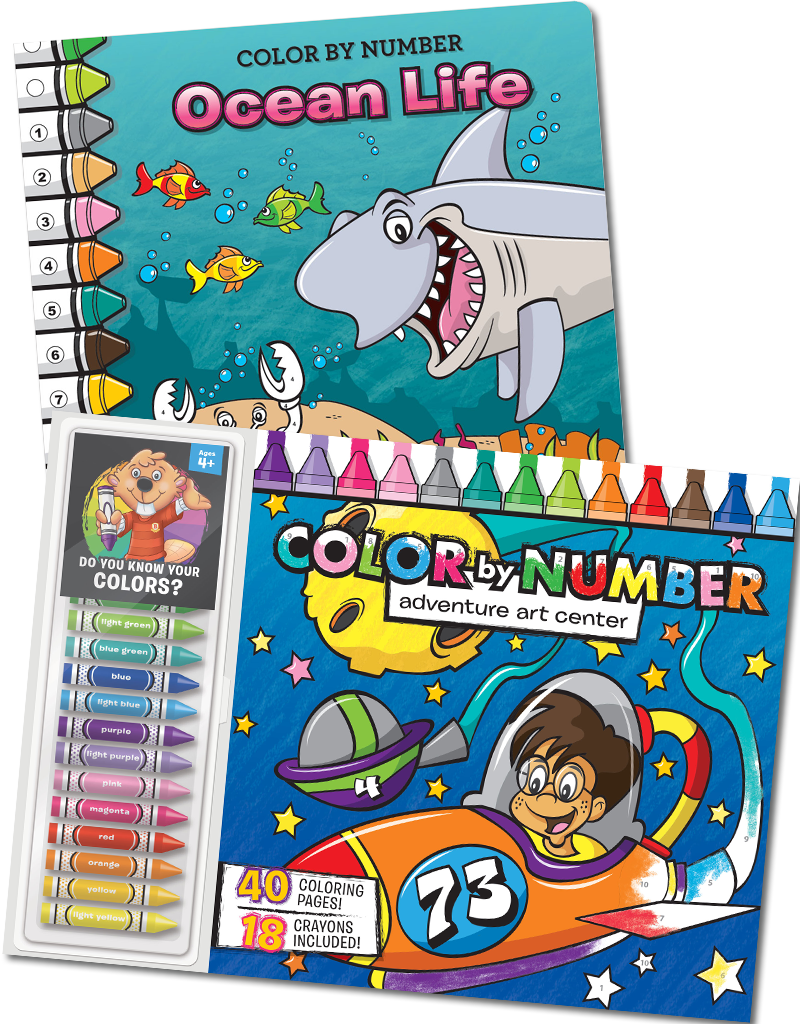 Color-by-Number Coloring Books