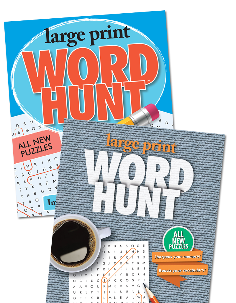 Large Print Word Hunt™ Books