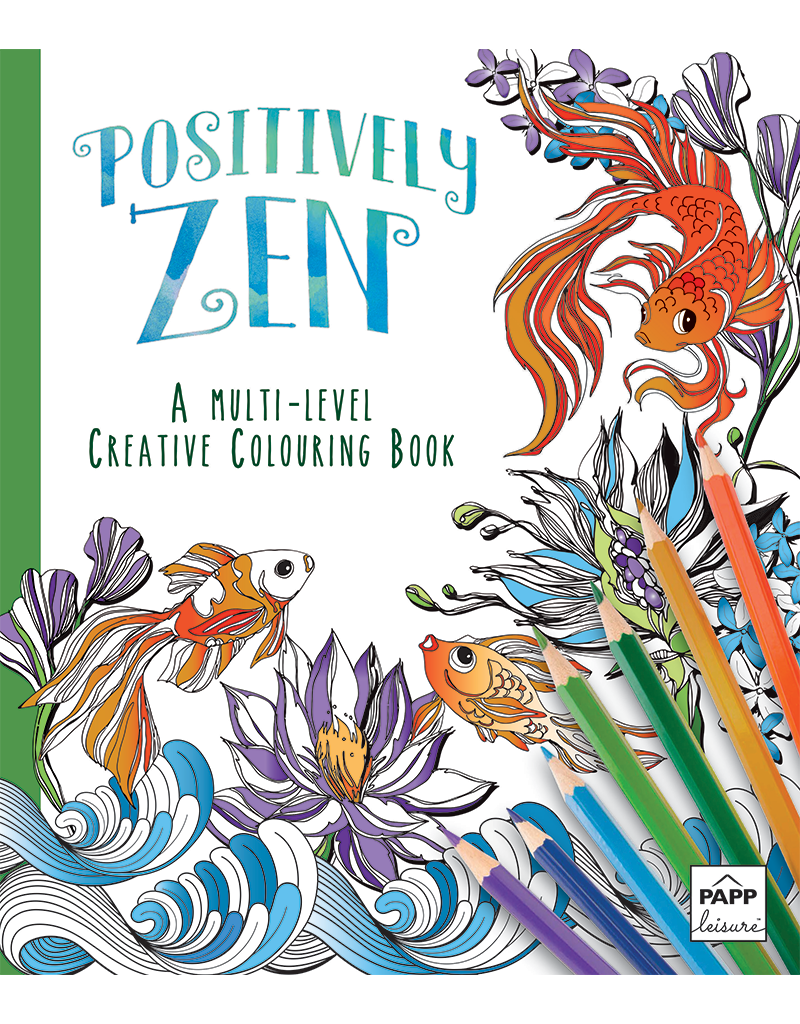 Creative Coloring: Positively Zen | Beaver Books Publishing