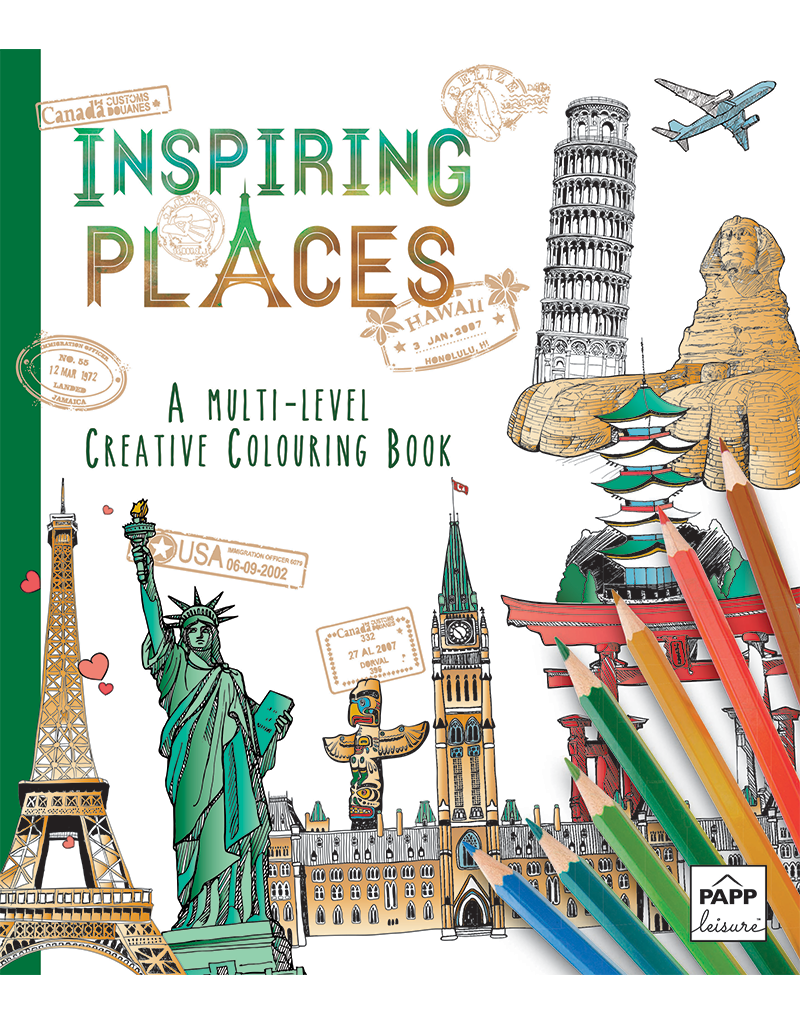 Creative Coloring: Inspiring Places