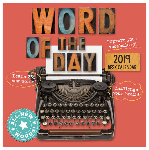 2019 Desk Calendar: Word of the Day