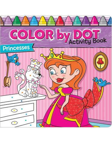 Color by Dot Activity Book: Princesses