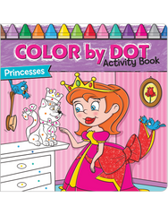 Color-by-Dot Activity Book: Princesses