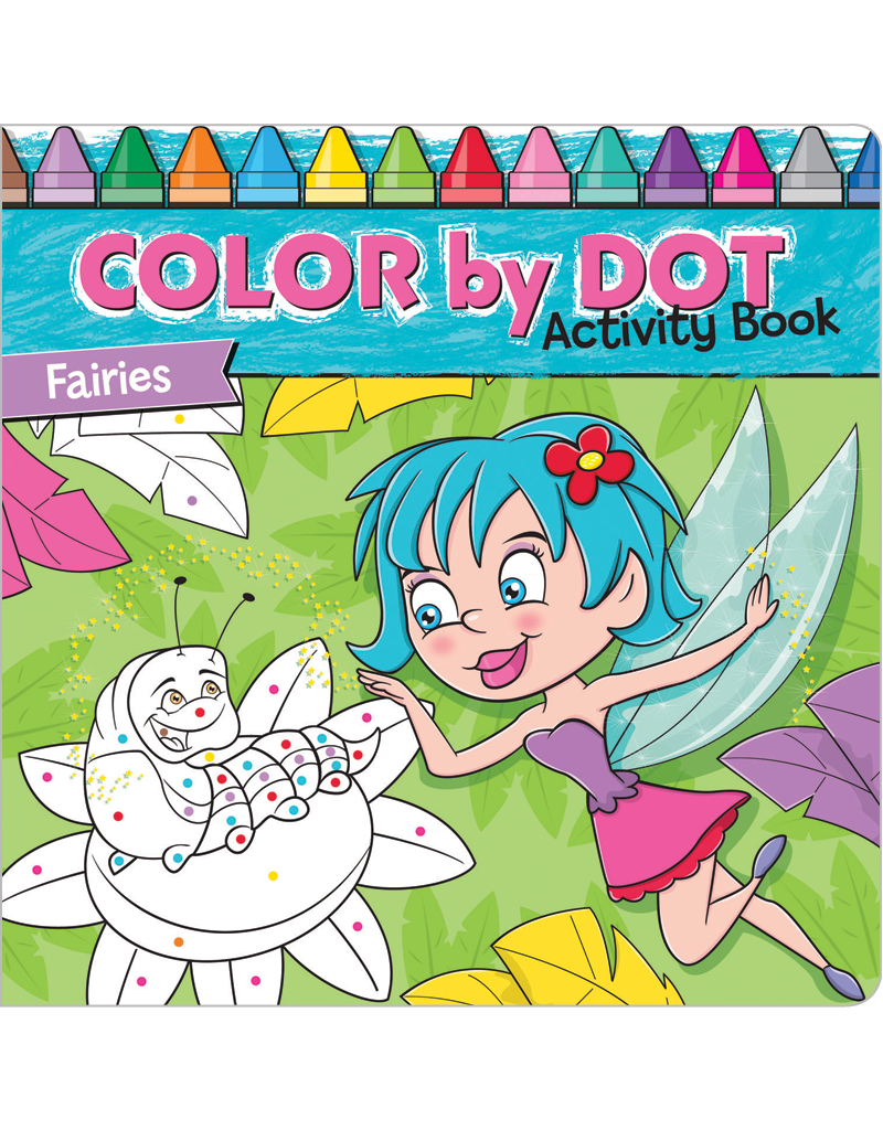 Color-by-Dot Activity Book: Fairies | Beaver Books Publishing