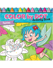 Color-by-Dot Activity Book: Fairies