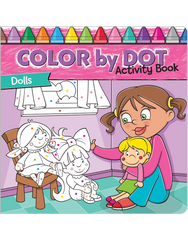 Color by Dot Activity Book: Dolls