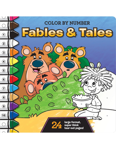 color by number fables and tales - Color By Number Books