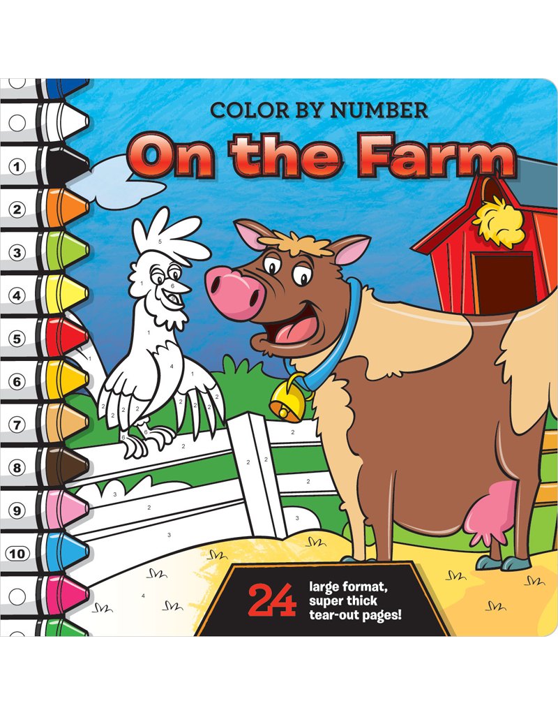 color by number on the farm - Color By Number Books