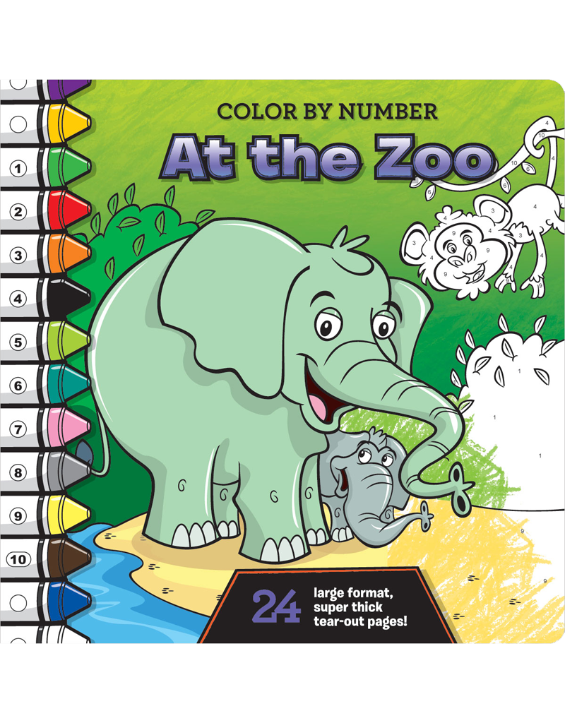 color by number at the zoo beaver books publishing