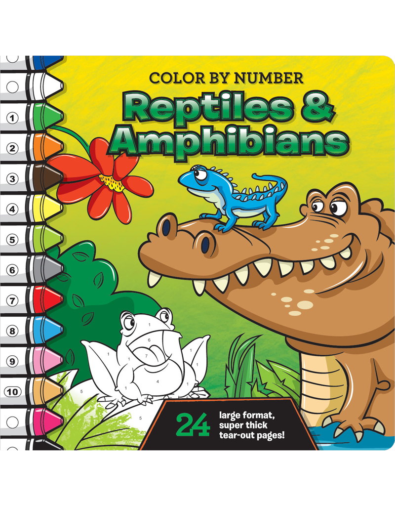Color-by-Number: Reptiles and Amphibians | Beaver Books Publishing
