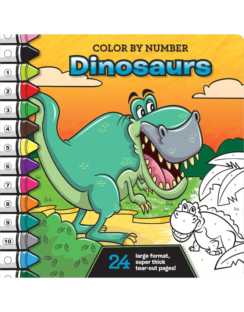 Color-by-Number: Dinosaurs | Beaver Books Publishing