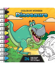 Color by Number: Dinosaurs