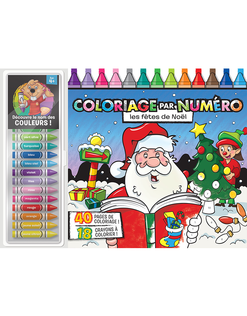 color by number floor pad holiday art pack - Color By Number Books