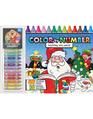 Color-by-Number Floor Pad: Holiday Art Pack