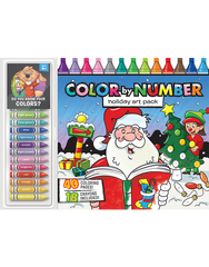 Color by Number Floor Pad: Holiday Art Pack