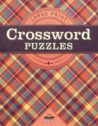 Large Print Crossword Puzzles: Autumn Plaid