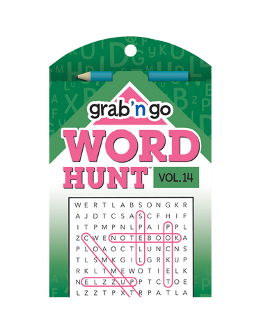 Grab 'n Go Word Hunt™ #14: Carnation-Clover