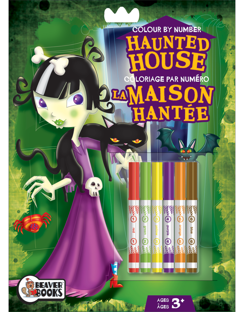 Color-by-Number with Markers: Haunted House | Beaver Books Publishing