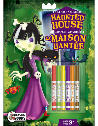 Color by Number with Markers: Haunted House