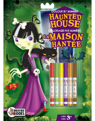 Color-by-Number with Markers: Haunted House
