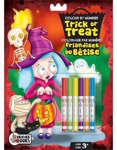 Color by Number with Markers: Trick or Treat
