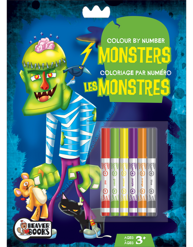 Color by Number with Markers: Monsters