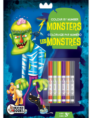 Color-by-Number with Markers: Monsters