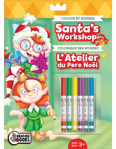 Color by Number with Markers: Santa's Workshop