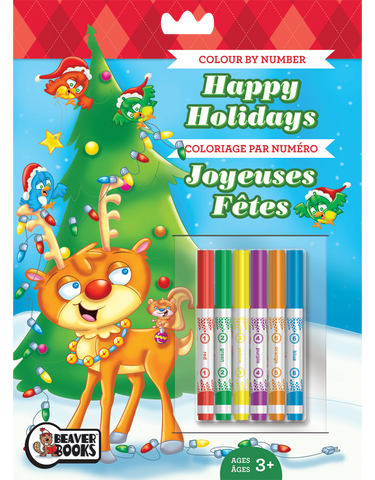 Color by Number with Markers: Happy Holidays